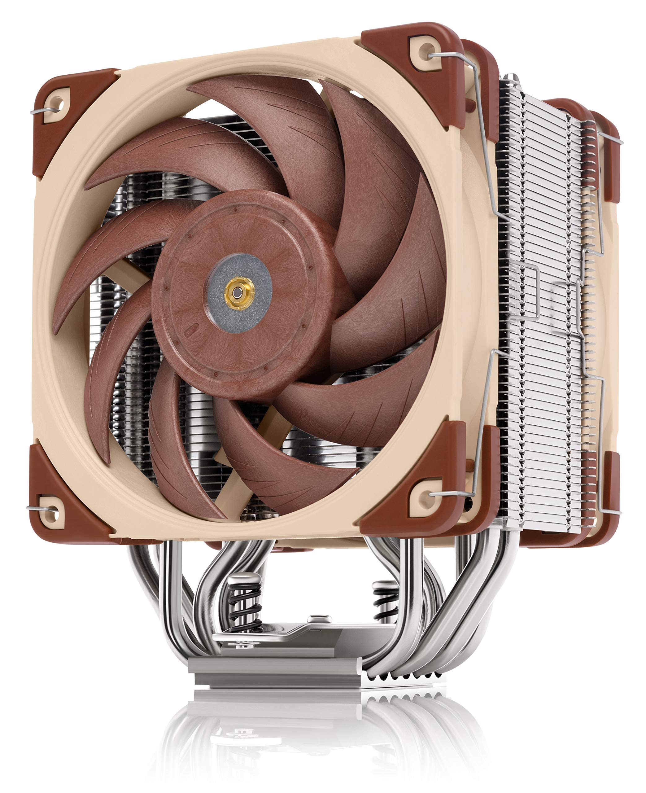 NOCTUA NH-U12A, Premium 120mm CPU Cooler with High-Performance Quiet NF-A12x25 PWM Fans (Brown) by NOCTUA