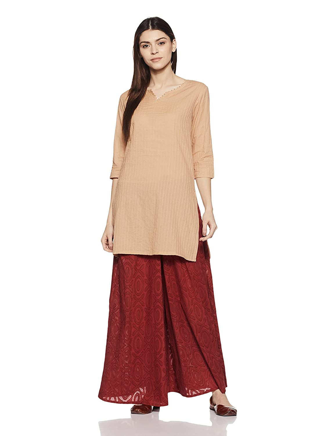 women ethnic wear cotton Straight Kurta