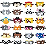 Animal Felt Masks Party Favors (24 Packs) for Kid - Safari Party Supplies with 24 Different Types - Great Idea for…