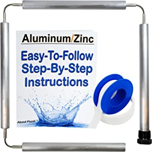 About Fluid Aluminum/Zinc Flexible Anode Rod Kit For Water Heaters | Includes Full Roll Of Teflon Tape | Easy-To-Follow Step-By-Step Instructions | (WITHOUT Cap) (WITHOUT Socket)