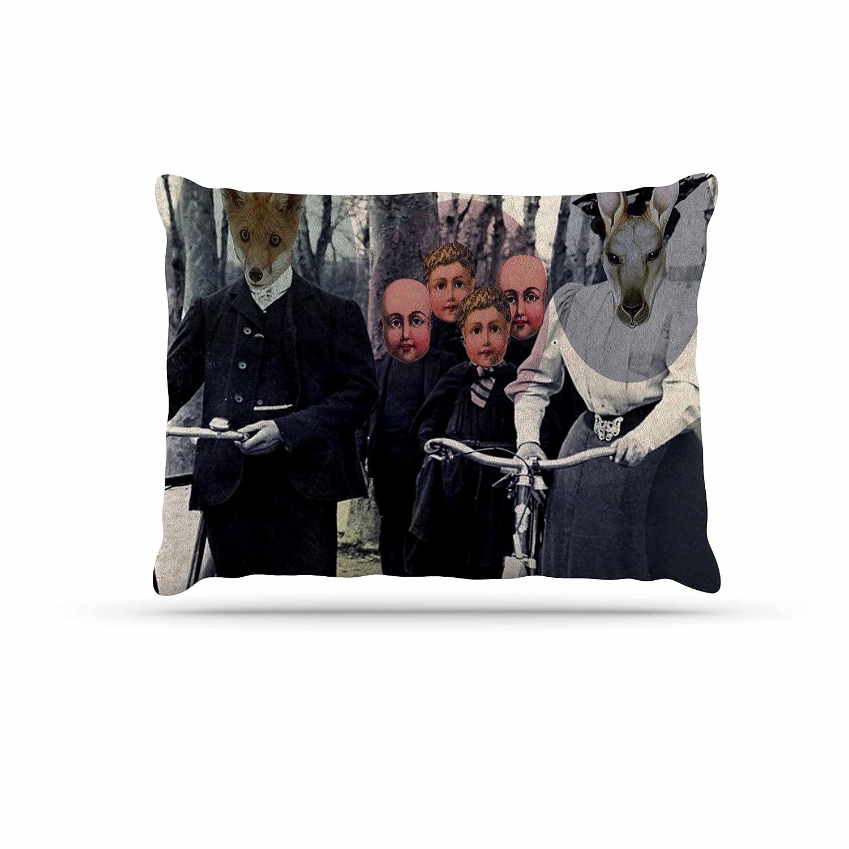 KESS InHouse Suzanne Carter Incognito Black Multicolor Digital Dog Bed, 30  x 40