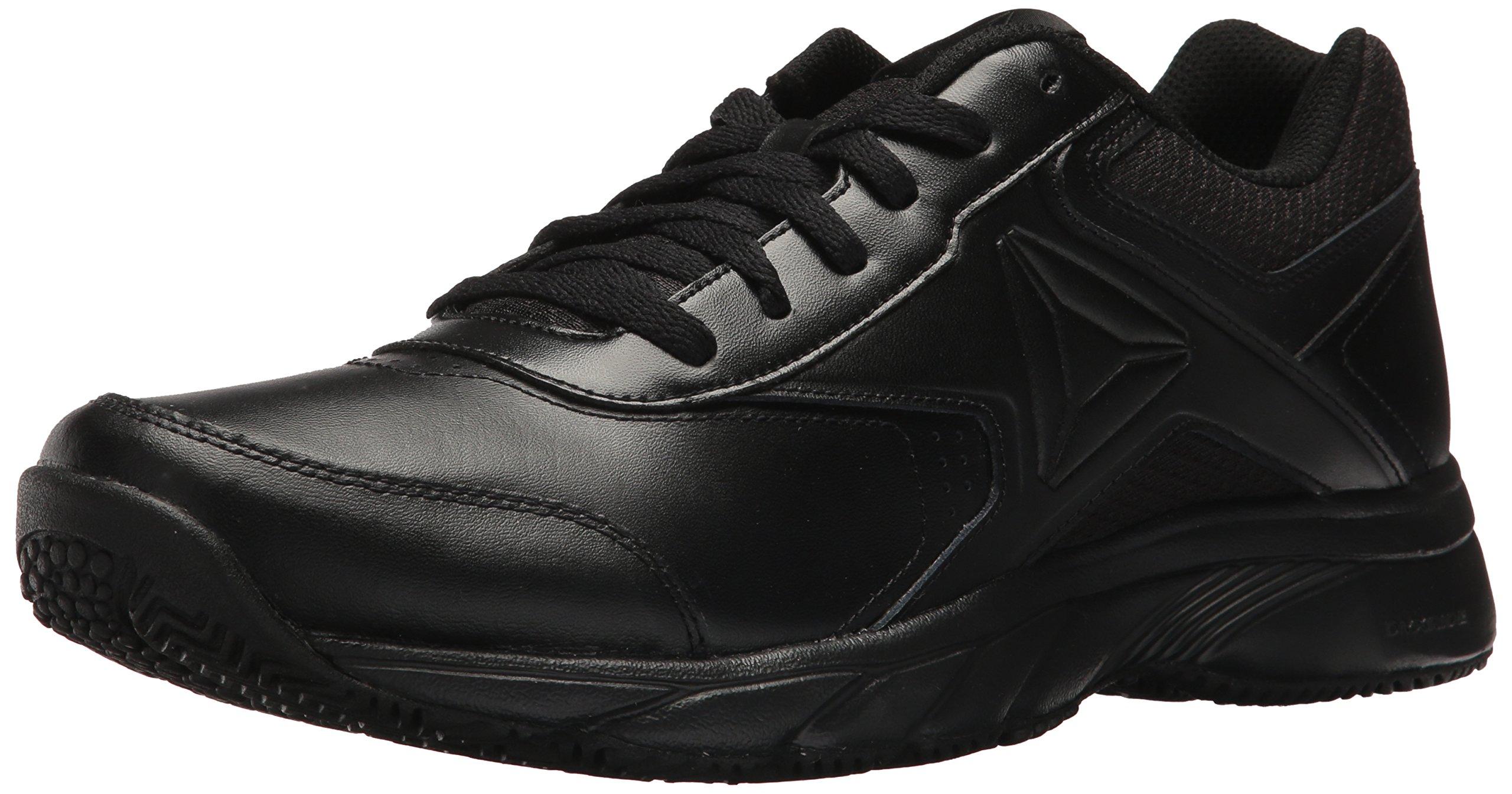 Reebok Men's Work N Cushion 3.0 Walking Shoe, Black, 10.5 M US
