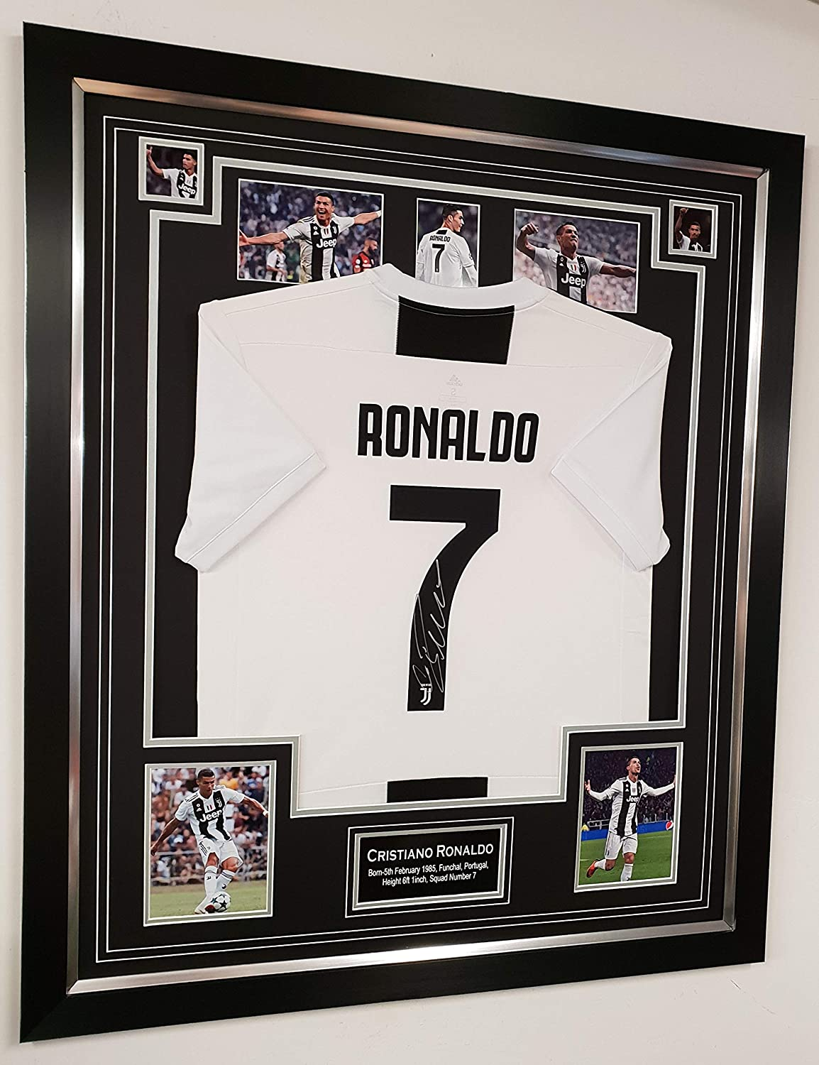 new styles d7f05 143de Cristiano Ronaldo of Manchester United Signed shirt OFFICIAL CHAMPIONS  LEAGUE PROGRAMME DISPLAY