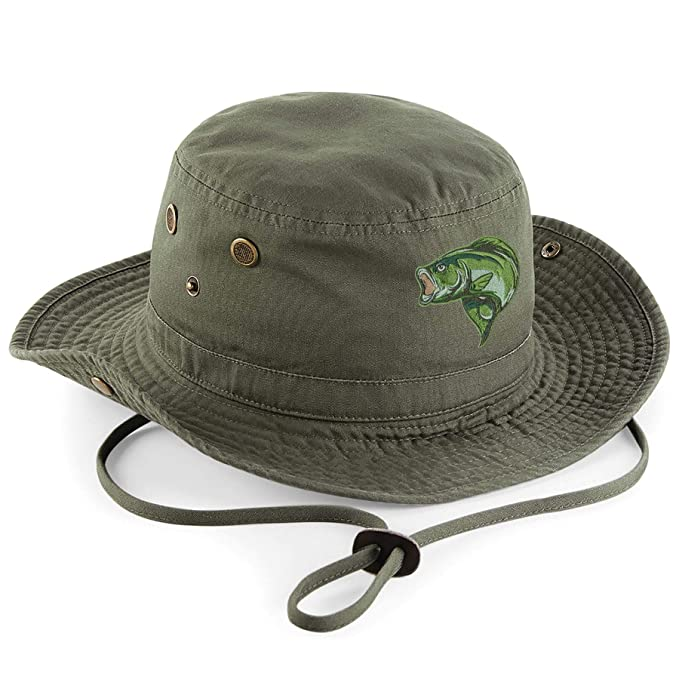 NEW KHAKI FISHING Hat Cap With Sun Protection .