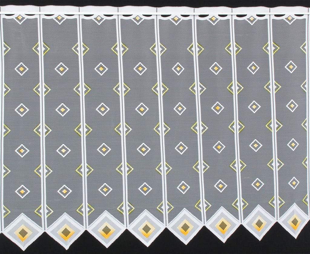 Rideaux Cuisine Colour: Blanc Rideaux Brise-bise carr/és 30 cm de Haut Vous Pouvez Choisir la Largeur des Rideaux par paliers de 11,5 cm