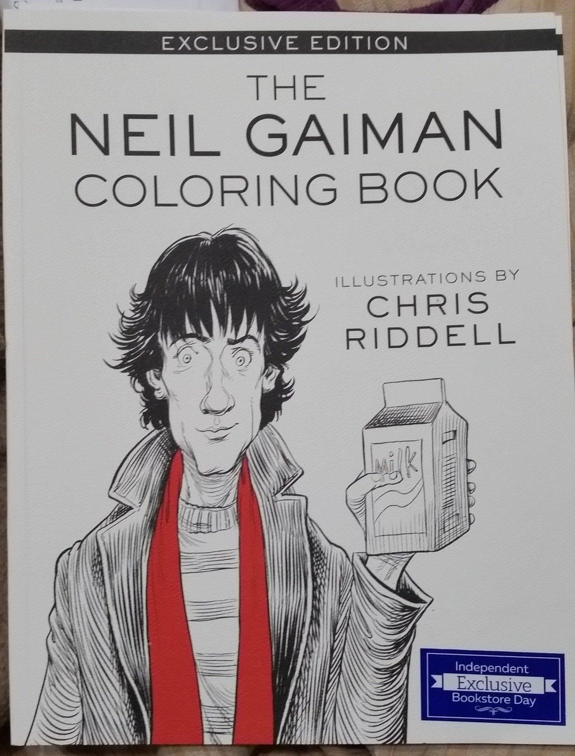 Neil Gaiman Coloring Book: Neil Gaiman, Chris Riddell: 9780062499561 ...