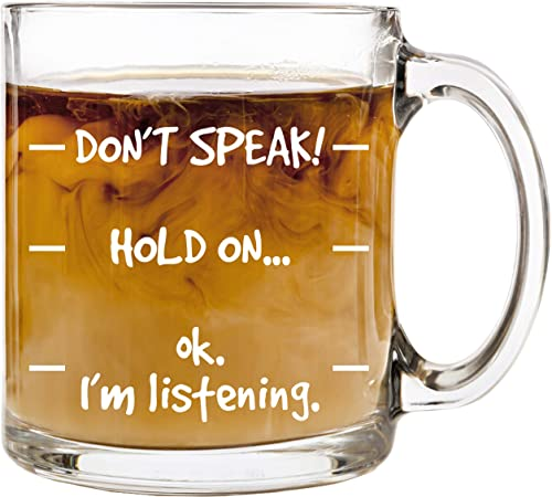 Humor Us Home Goods Store Don't Speak! Funny Coffee Mug
