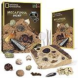 NATIONAL GEOGRAPHIC Mega Fossil Dig Kit – Excavate 15 Real Fossils Including Dinosaur Bones & Shark Teeth, Educational Toys,