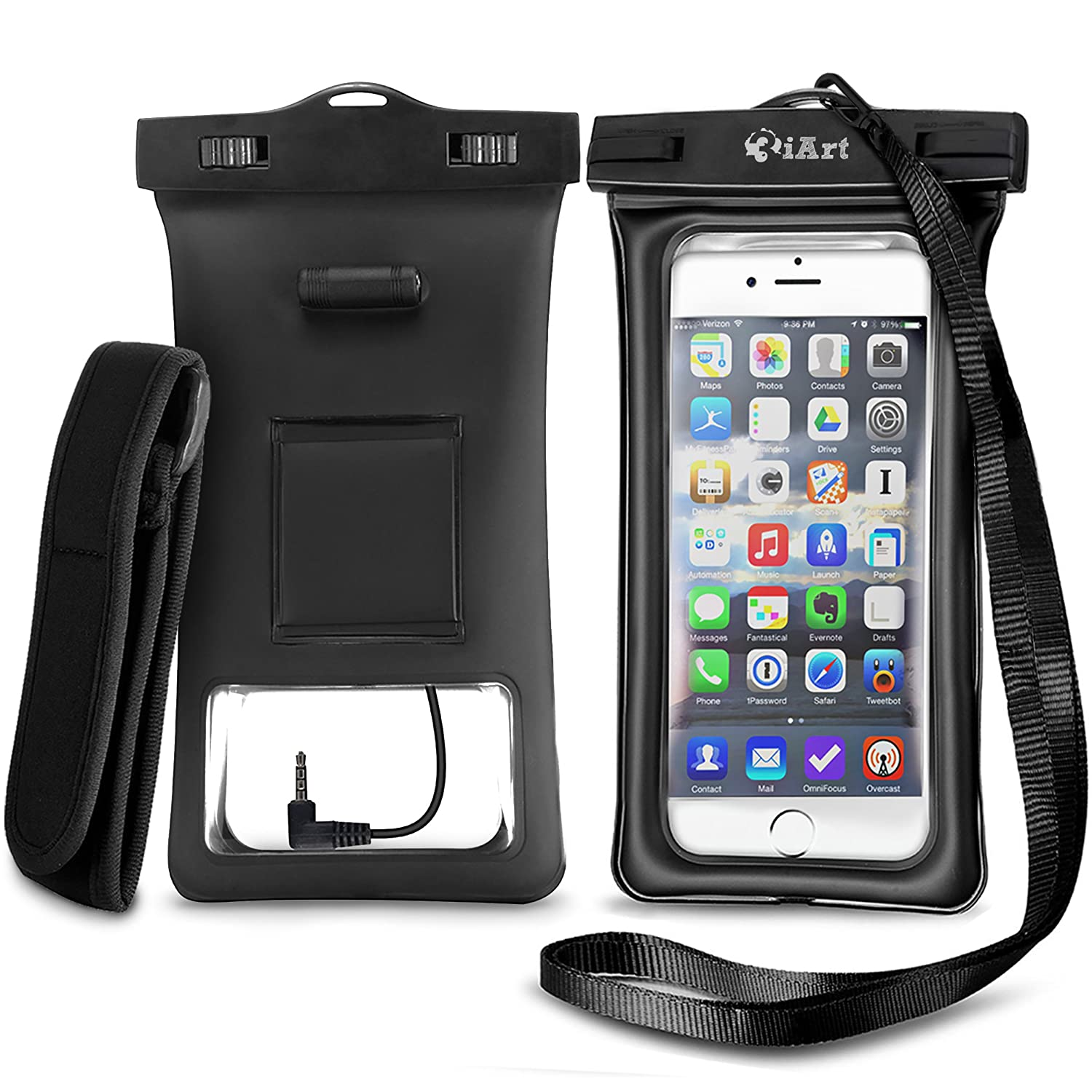 floating waterproof case dry bag with armband audio jack for iphone 6 6 plus ebay. Black Bedroom Furniture Sets. Home Design Ideas