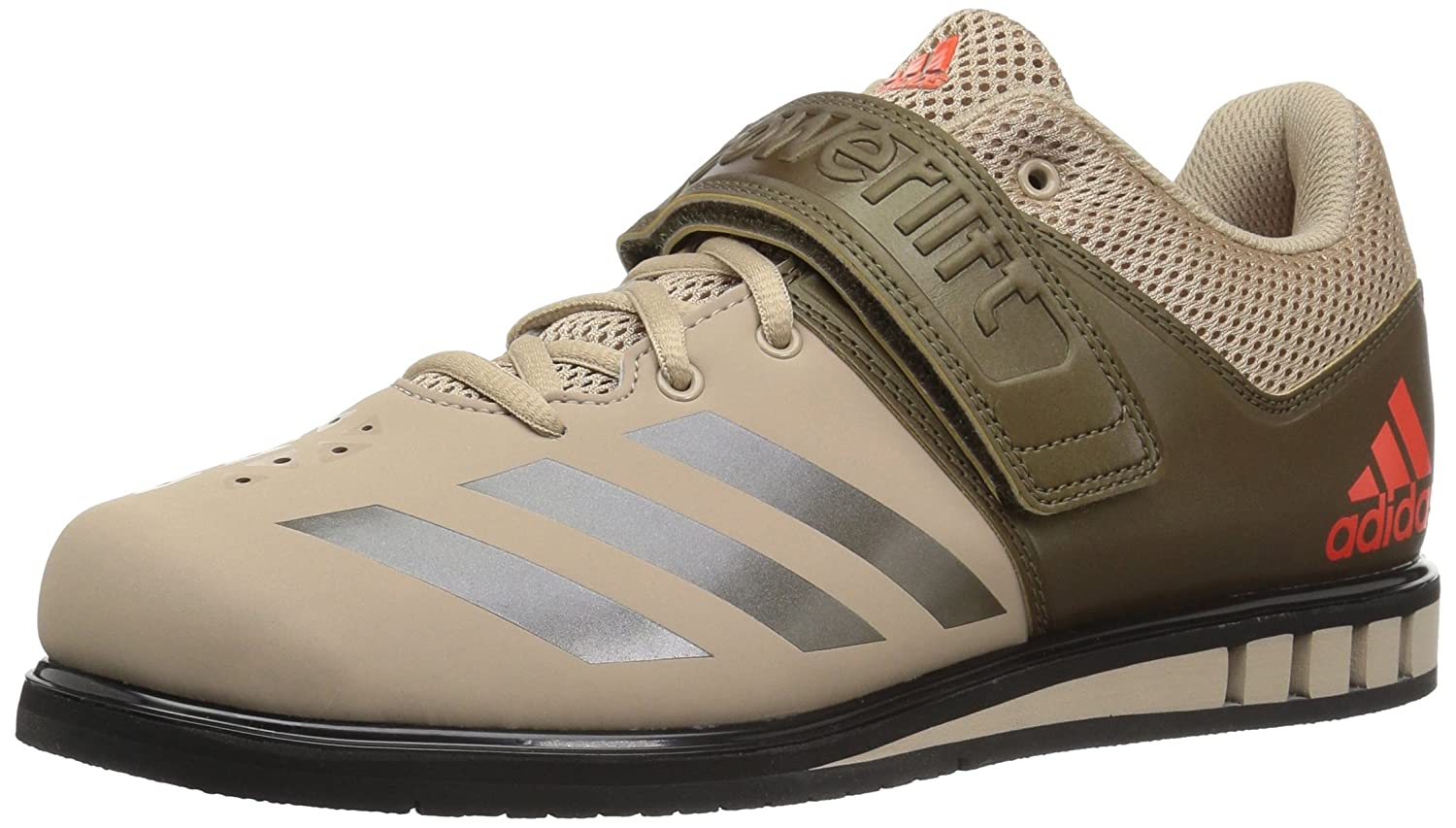 Tech Beige Trace Olive Black adidas Powerlift.3.1 shoes Men's Weightlifting