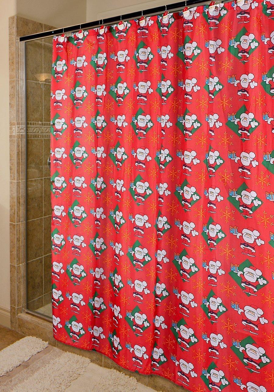 Santa Claus Holiday Shower Curtain