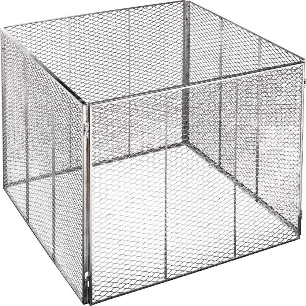 Brista - Recipiente de metal para compost (80 x 80 x 70 cm ...