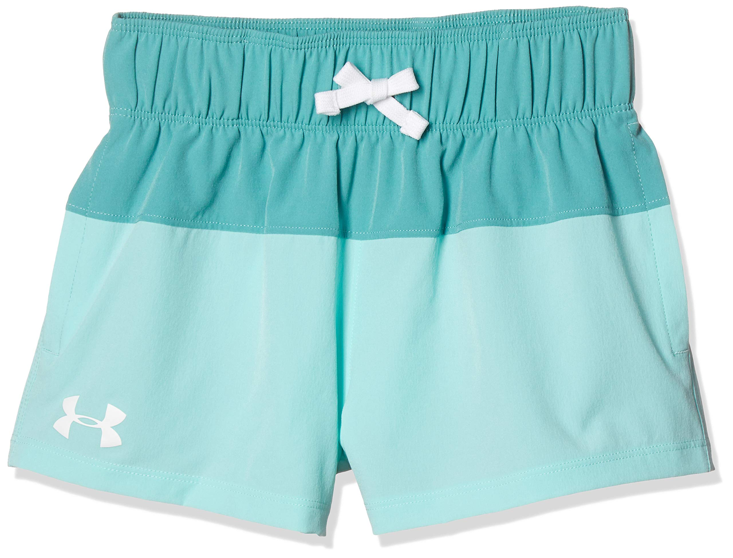Under Armour Girls' Splash Board Shorty, Azure Teal//White, Youth X-Large by Under Armour