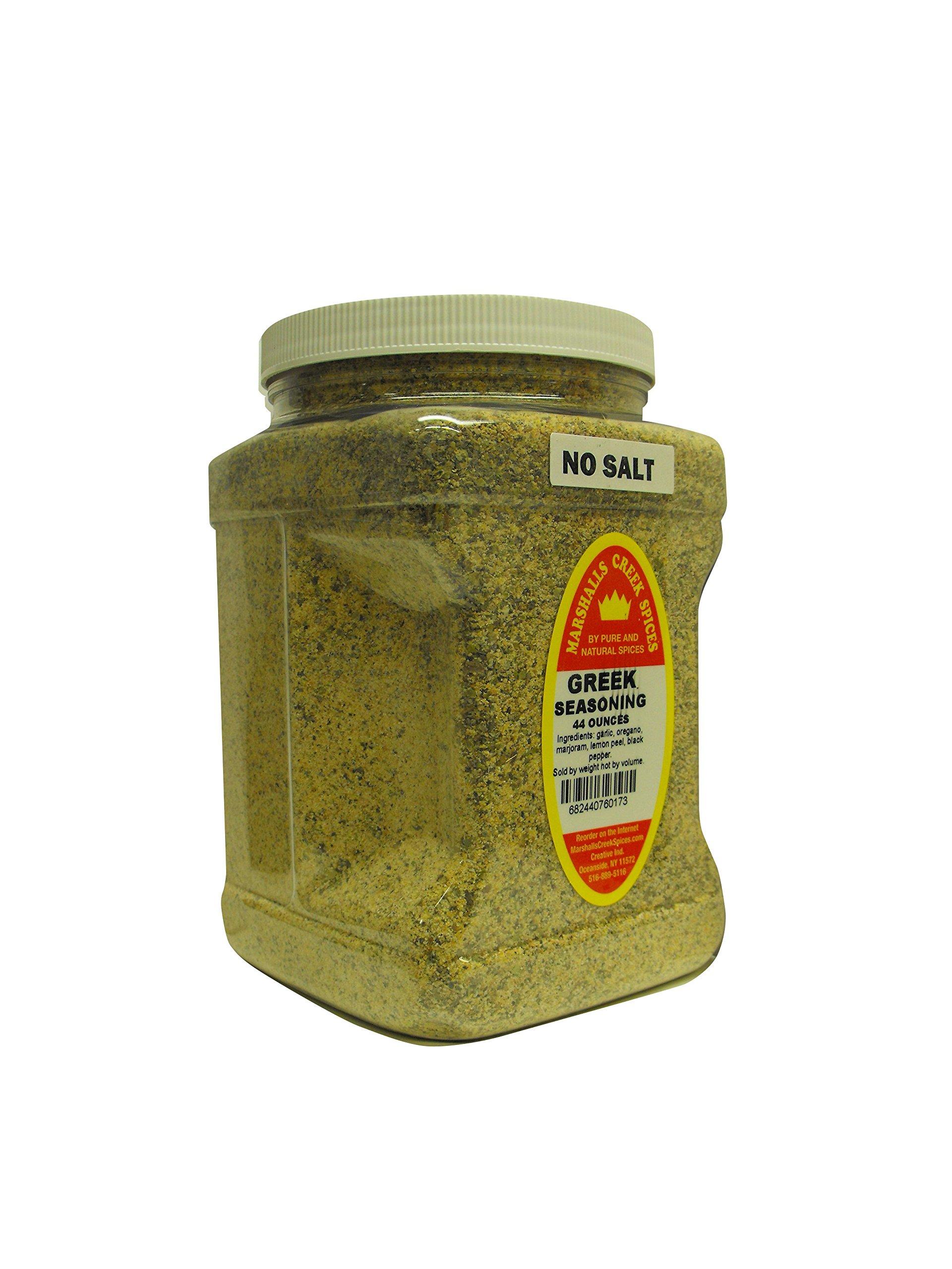 Family Size Marshalls Creek Spices Greek No Salt Seasoning, 40 Ounce ...