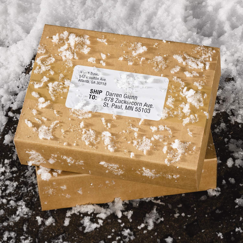 Avery WeatherProof Mailing Labels, TrueBlock Technology, Laser Printers, 2'' x 4'', Bulk Pack of 5,000 (95523) by AVERY