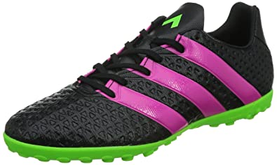 brand new 3763f 3027d Adidas AF5059 Men's Ace 16.4 TF Football Shoes, Core Black/Shock Pink/Solar  Green, 6.5 M US
