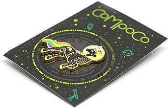 space lover Black unicorn enamel pin unicorn space suit Gold glitter lapel pin astronaut pin space helmet pin unicorn lapel pin