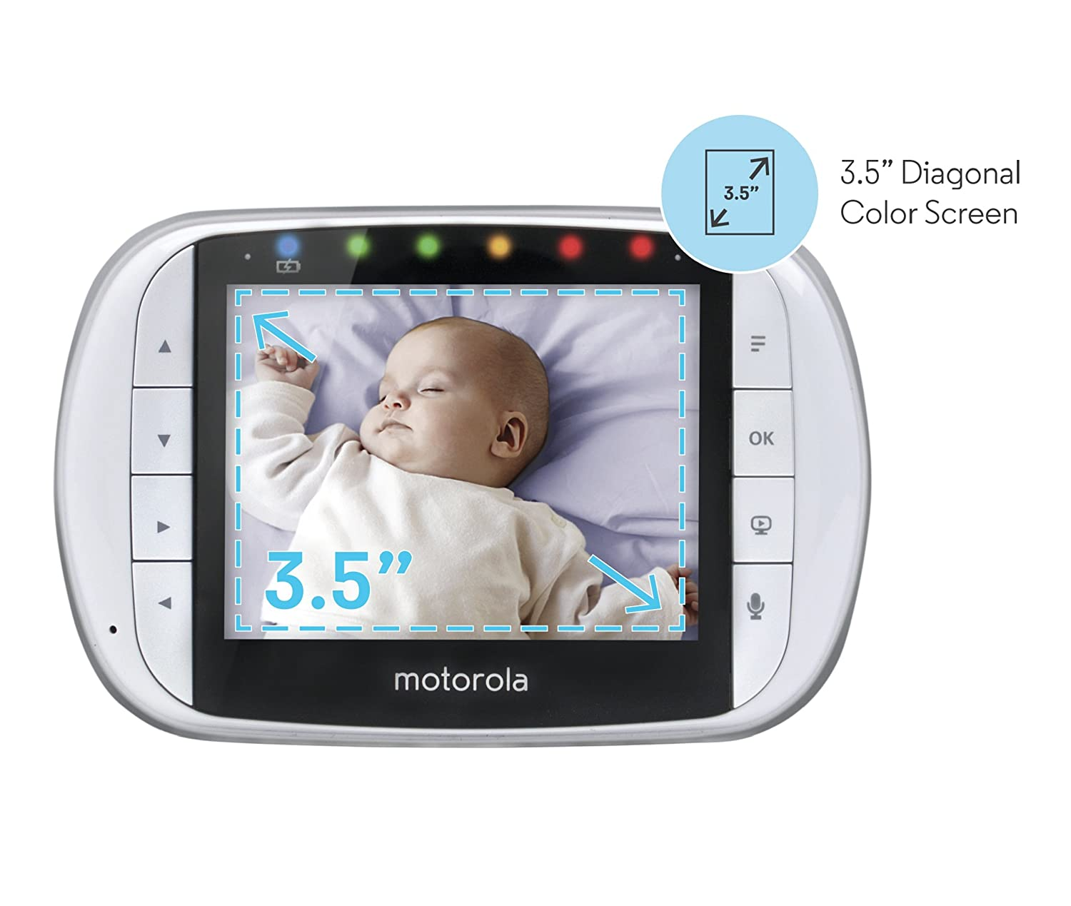 Remote Camera Pan Tilt and Zoom Motorola MBP36S Remote Wireless Video Baby Monitor with 3.5-Inch Color LCD Screen
