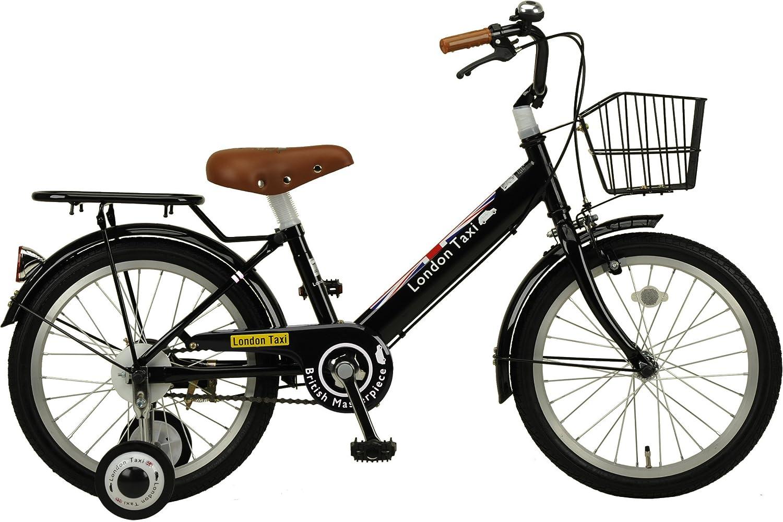 ジェフリーズ 自転車 子供用 16インチ ロンドンタクシー 補助輪 バスケット 標準装備 B07478T8J2 16インチ|ブラック ブラック 16インチ