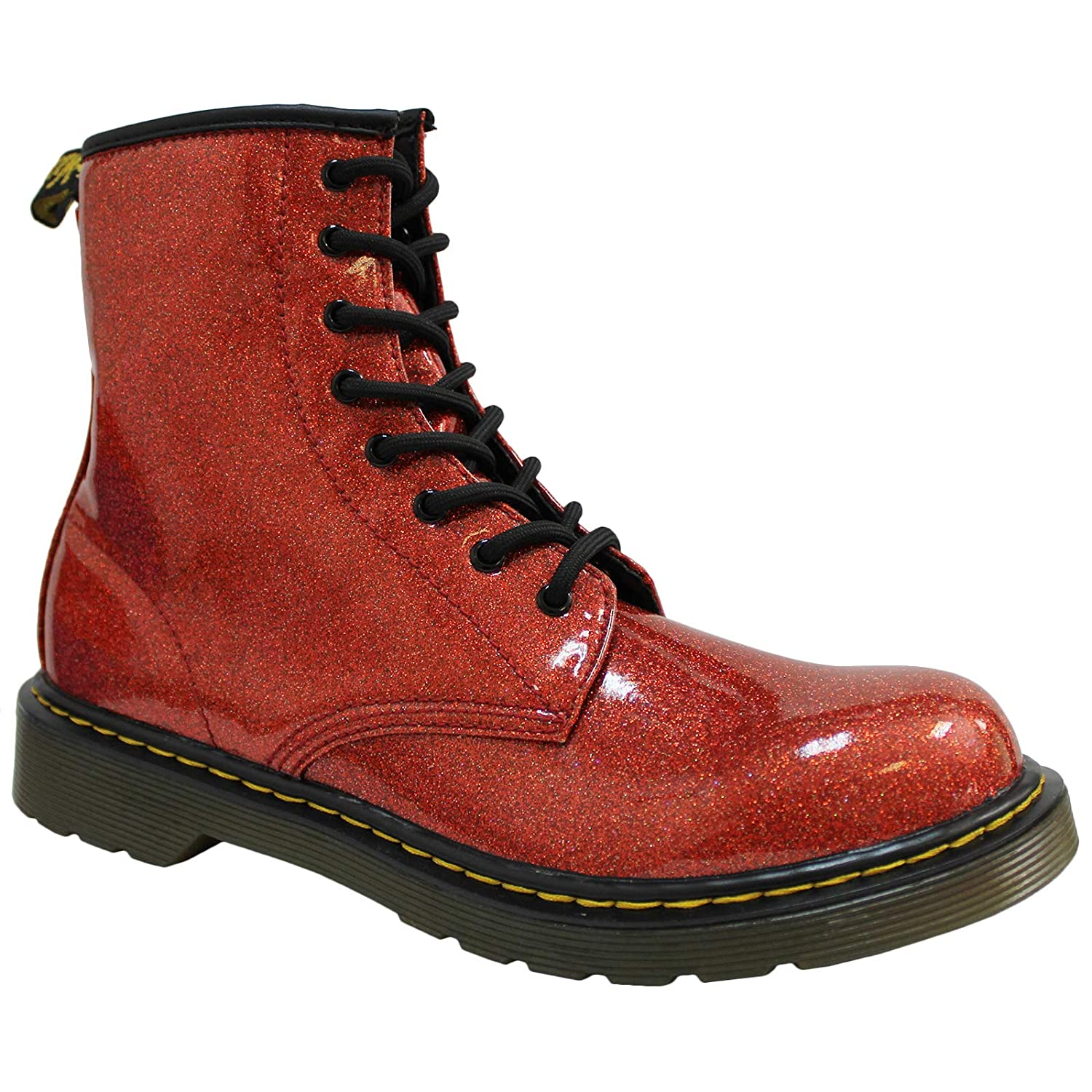 Dr Dr Martens Kid/'s Collection R24092029 Martens Kids Collection Womens 1460 Patent Glitter Youth Delaney Boot Big Kid