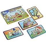 HACER Y APRENDER Juegos didácticos Set 4 Rompecabezas para niños con diseños de Mascotas, Material Educativo y Divertido