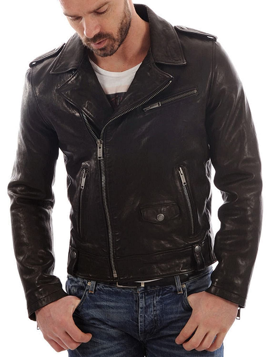 Leather Lifestyle OUTERWEAR メンズ B0797CXQ84 X-Large