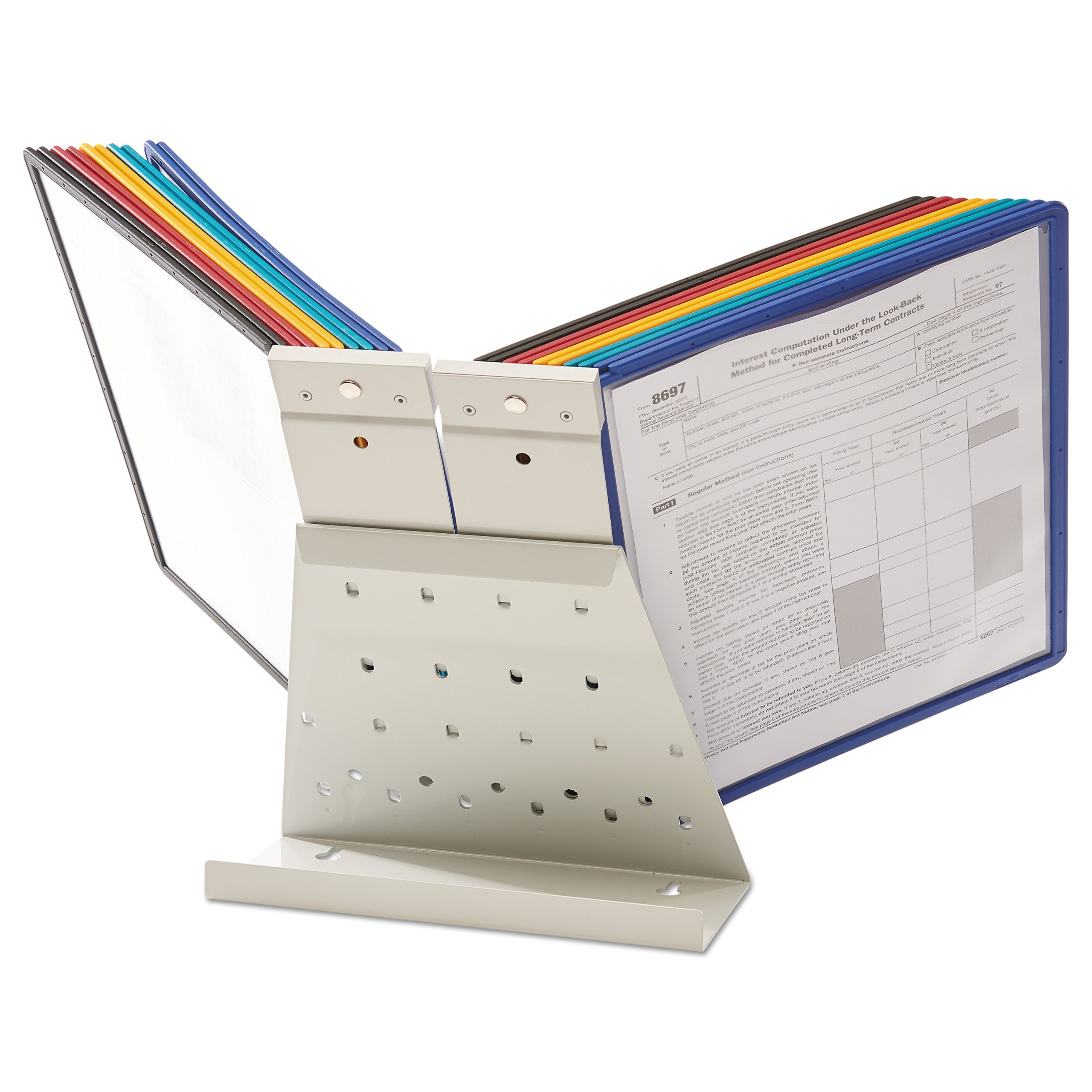 DURABLE Vario 20-Panel Desktop Reference System, Assorted Color Borders (536100) by Durable (Image #10)