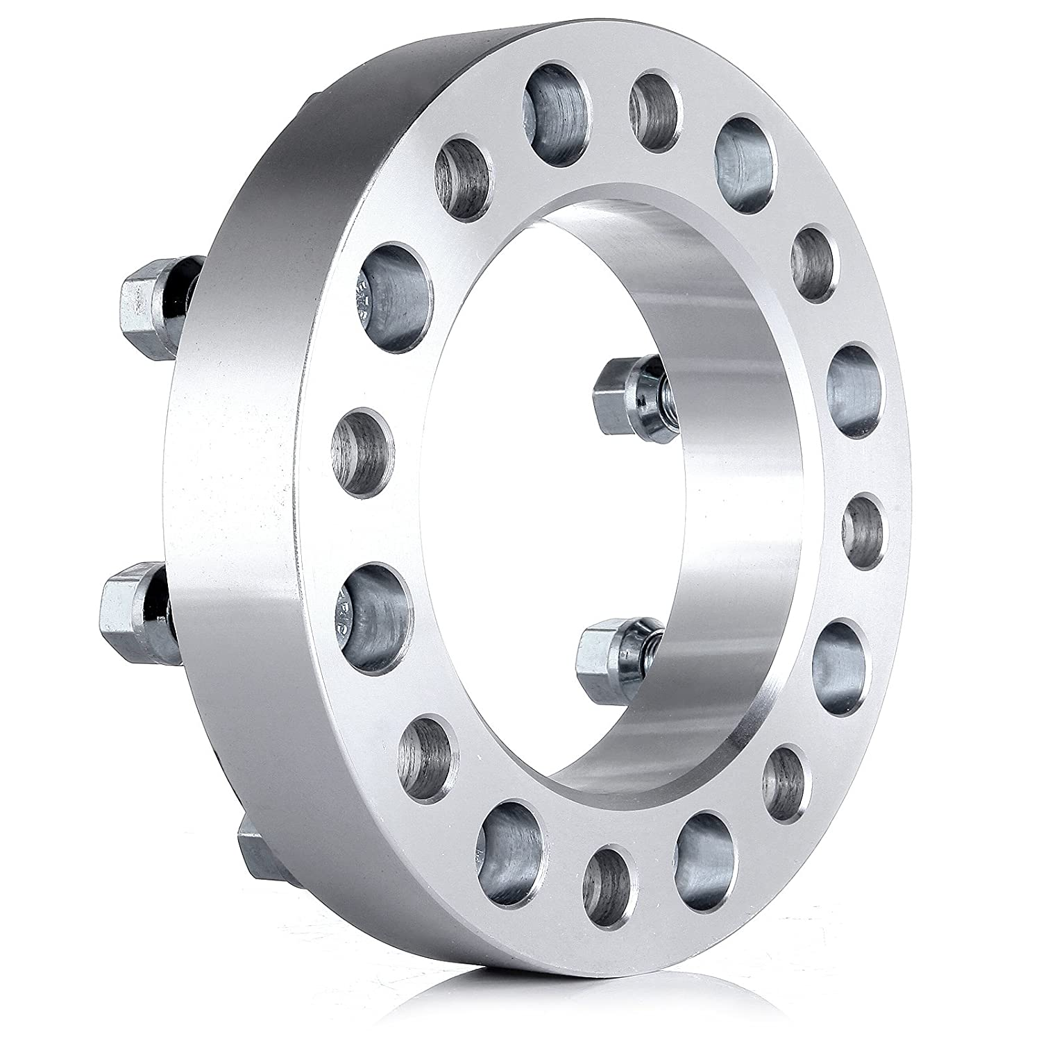 126.15 mm 8x165.1 mm Replacement fit for 99-10 Chevy Silverado GMC Sierra 1500HD 2500HD 3500HD Thread Size 14x1.5 ECCPP 8 Lug Wheel Spacer Adapters 1.5 8x6.5 to 8x6.5 4PC 1.5|8x6.5