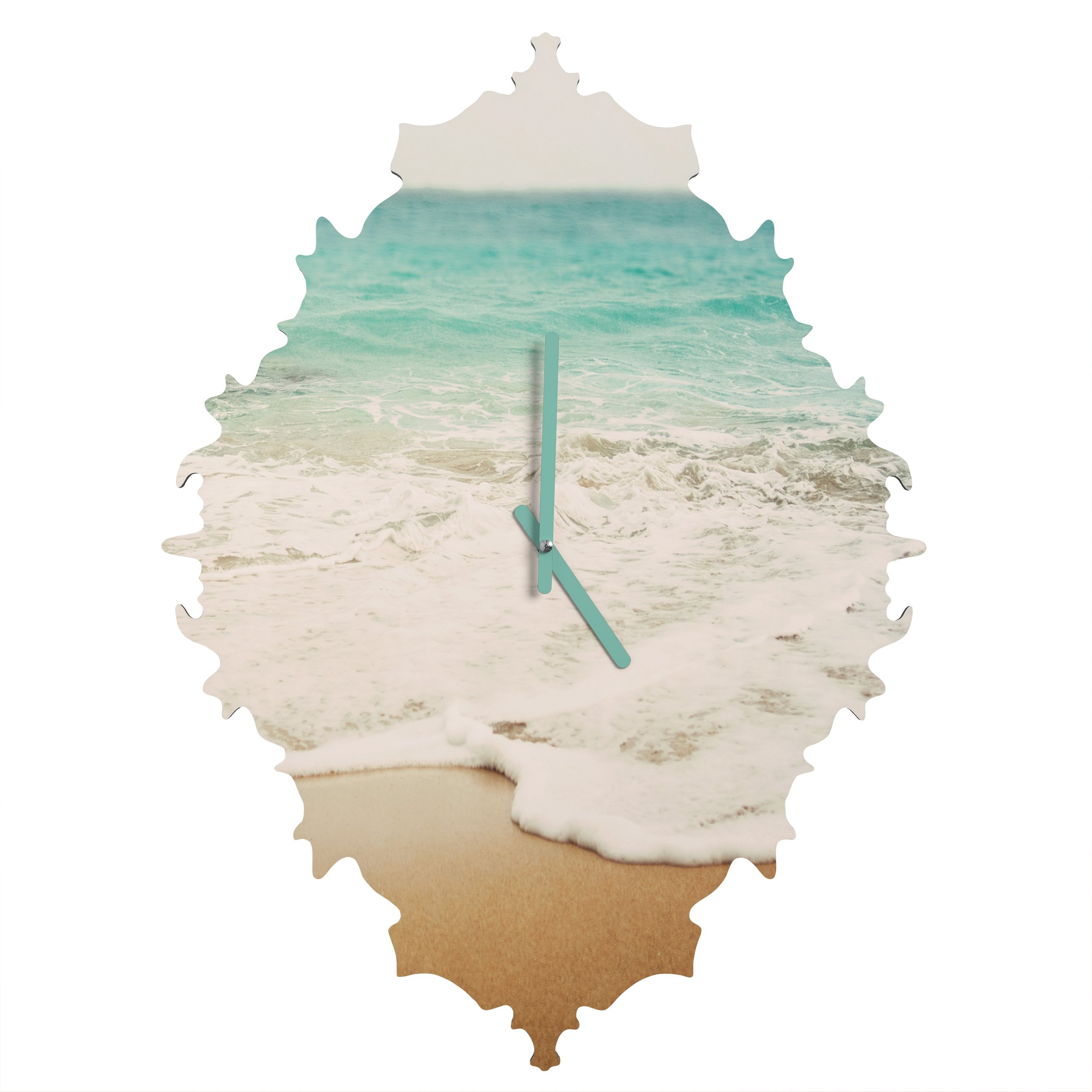 Deny Designs  Bree Madden, Ombre Beach, Baroque Clock, Small
