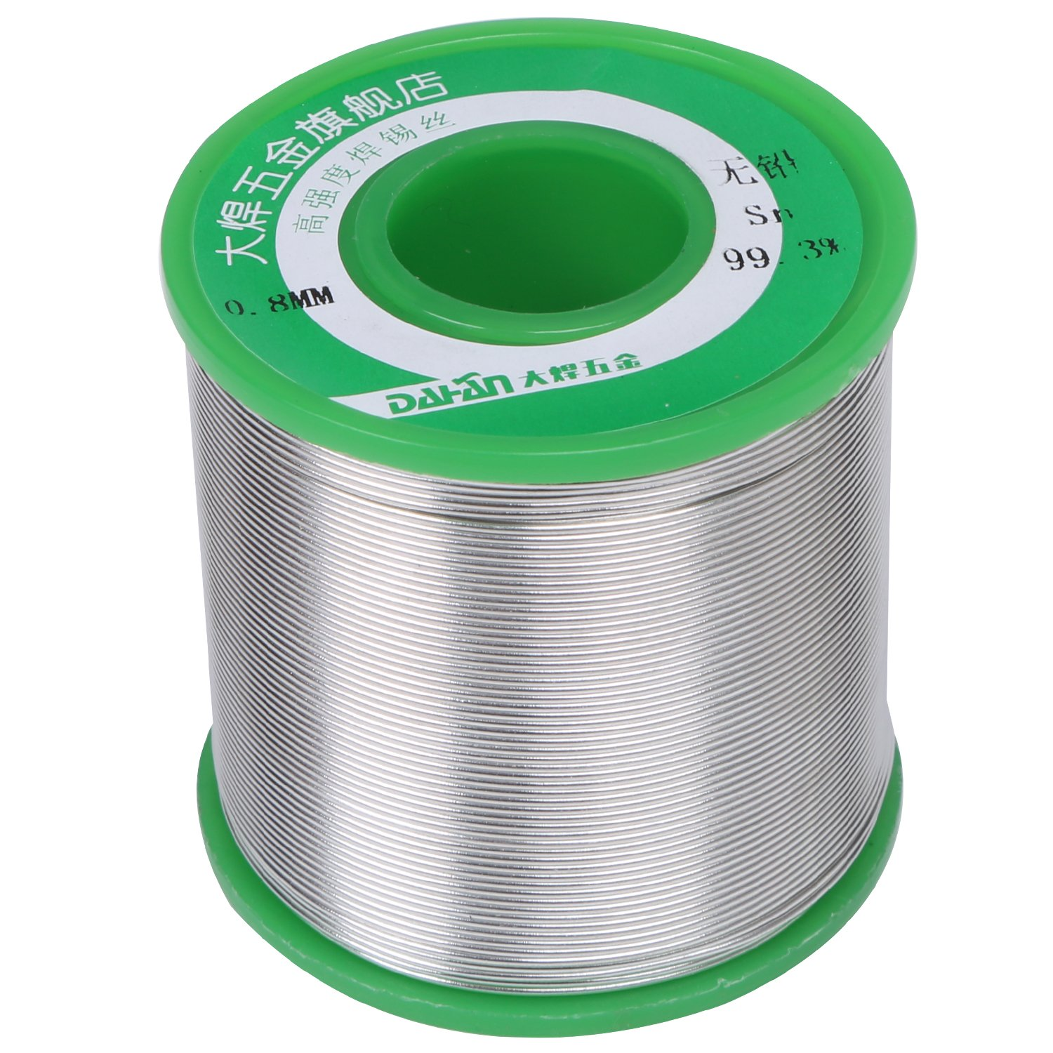 DAHAN 1 Pound Lead Free Solder Wire (Sn99.3 Cu0.7) with Rosin Core for Jewelry Electronics Electrical Repair Soldering and DIYs (Diam: 0.5mm/0.02'', 1 pound)