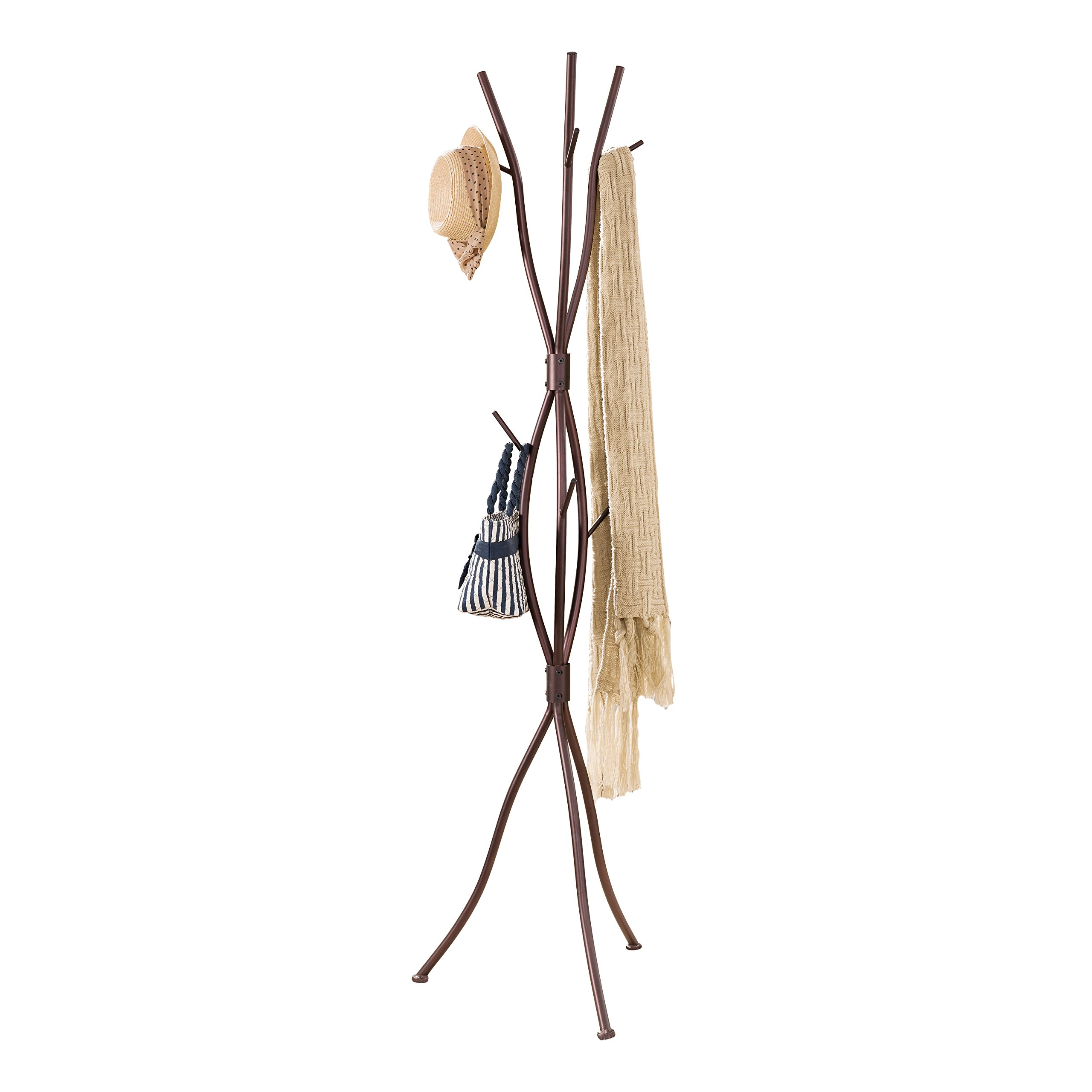 Pilaster Designs - Bronze Finish Metal Tree Branches Coat & Hat Rack Stand