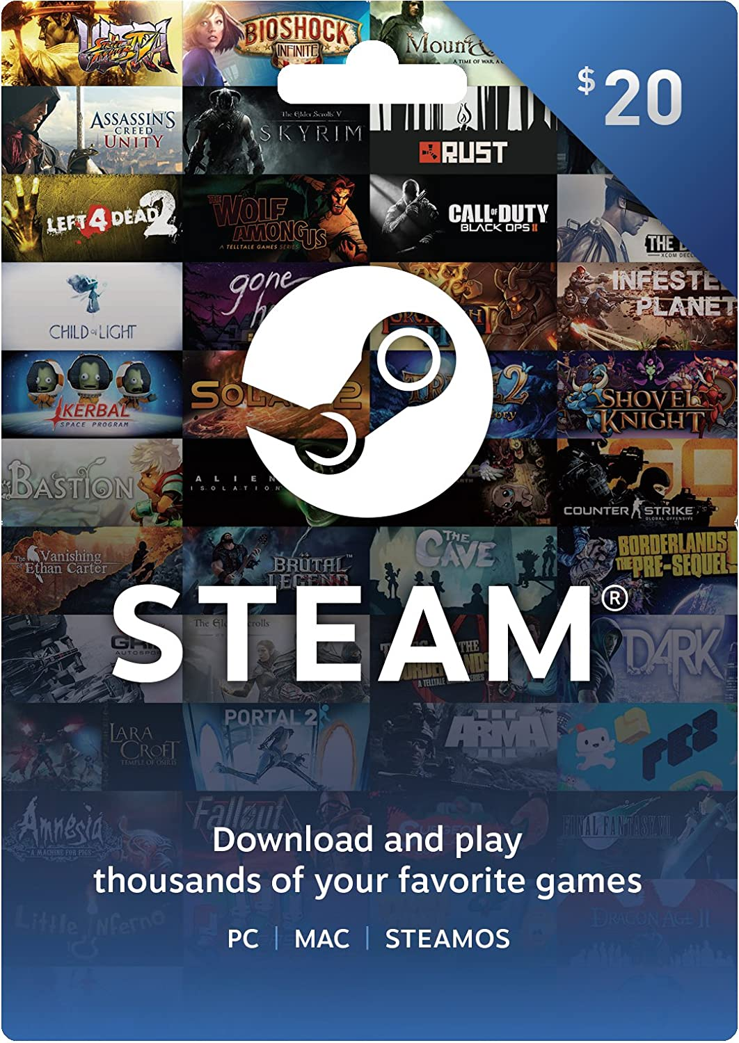 Amazon.com: Steam Gift Card - $50: pc: Video Games