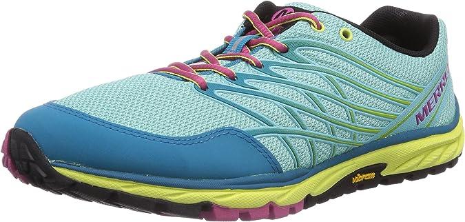 Merrell Bare Access Trail, Zapatillas de Deporte Exterior para Mujer, Multicolor (Adventurine/ALGRS Blue), 38 EU: Amazon.es: Zapatos y complementos