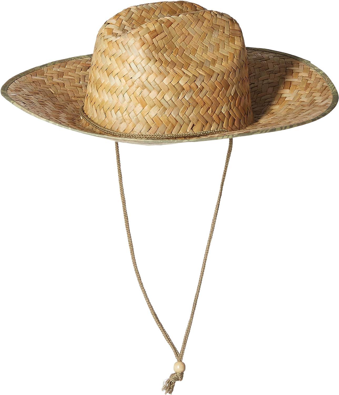 San Diego Hat Co Mens Raffia Cowboy Hat with Adjustable Chin Cord