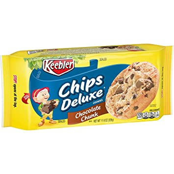amazon com keebler chips deluxe cookies chocolate chunk 11 6 oz tray