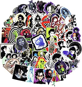 Tim Burton Movies Series Stickers for Laptop Computer Luggage Collection Cars Cup Funny Graffiti Decals 60pcs