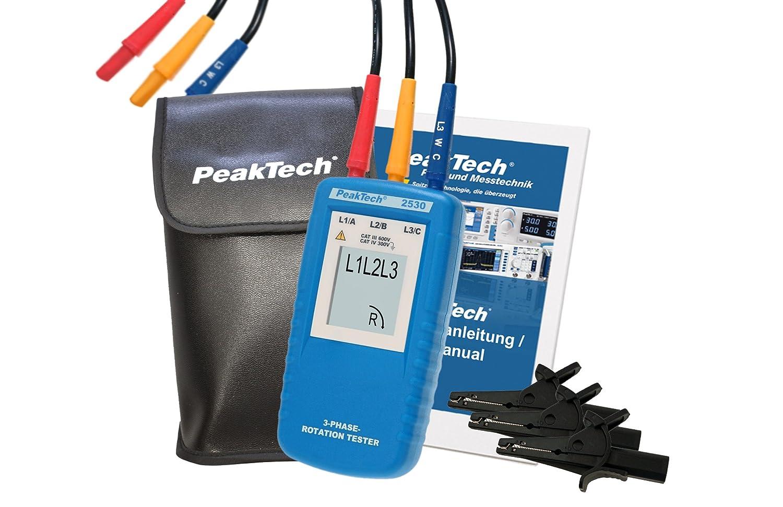 3-Phasen-Drehrichtungsanzeiger PeakTech 2530