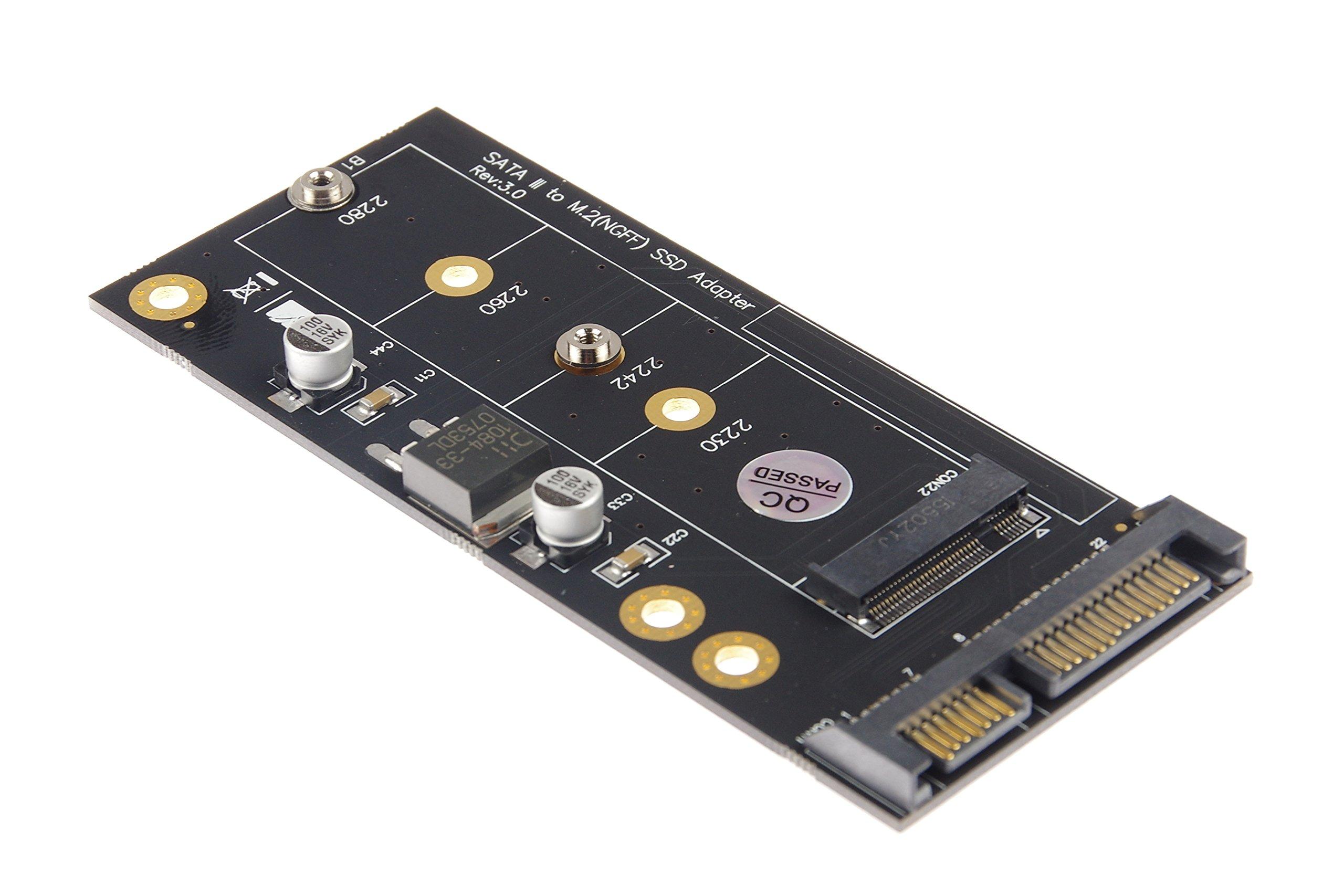 KNACRO NGFF to SATA 3.0 Riser Card NGFF/M.2 (Key B) SSD to SATA 3.0 Riser Card by KNACRO