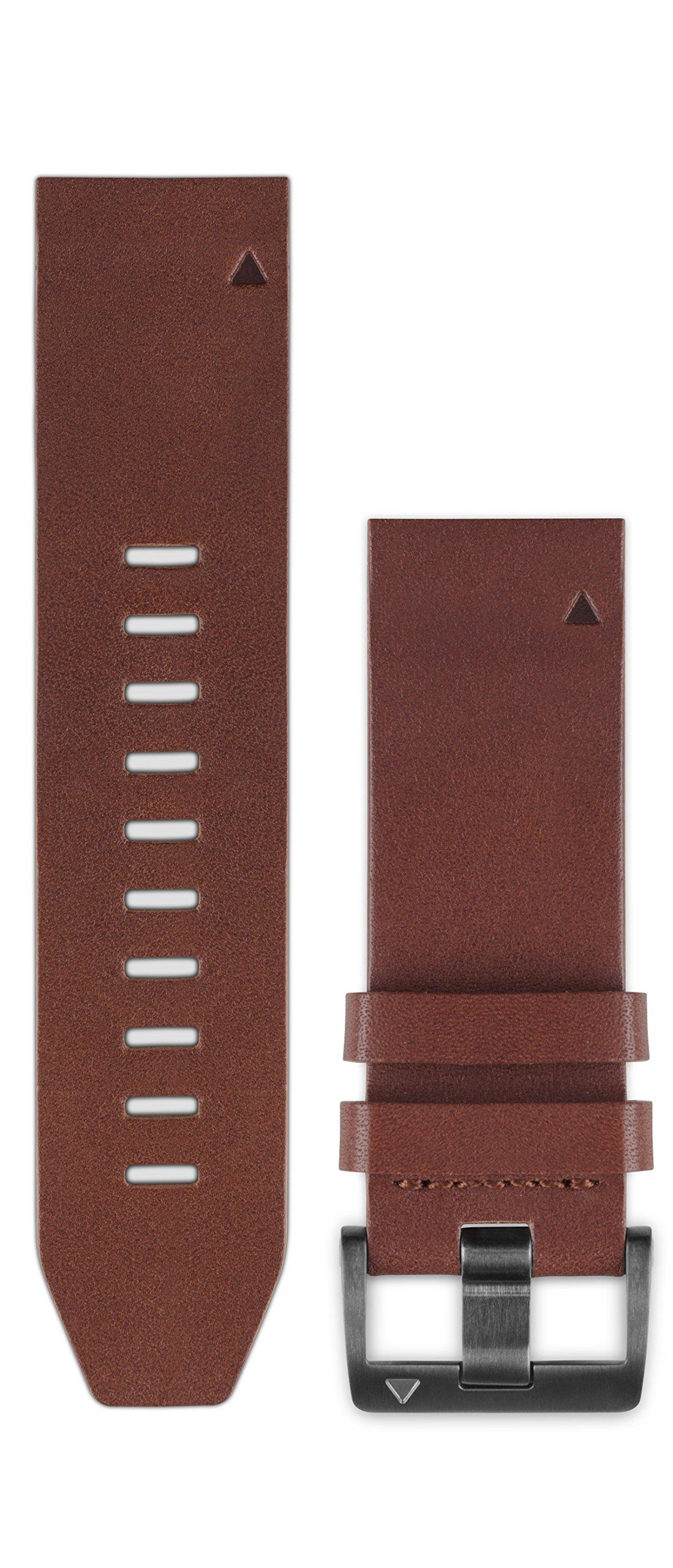 Garmin 010-12496-05 Fenix 5 Quick fit 22 Watch Band - Brown Leather by Garmin