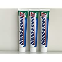Blend-a-med Toothpaste: Herbal (Krauter) Pack of 3 Tubes (3 x 75ml) Made in Germany