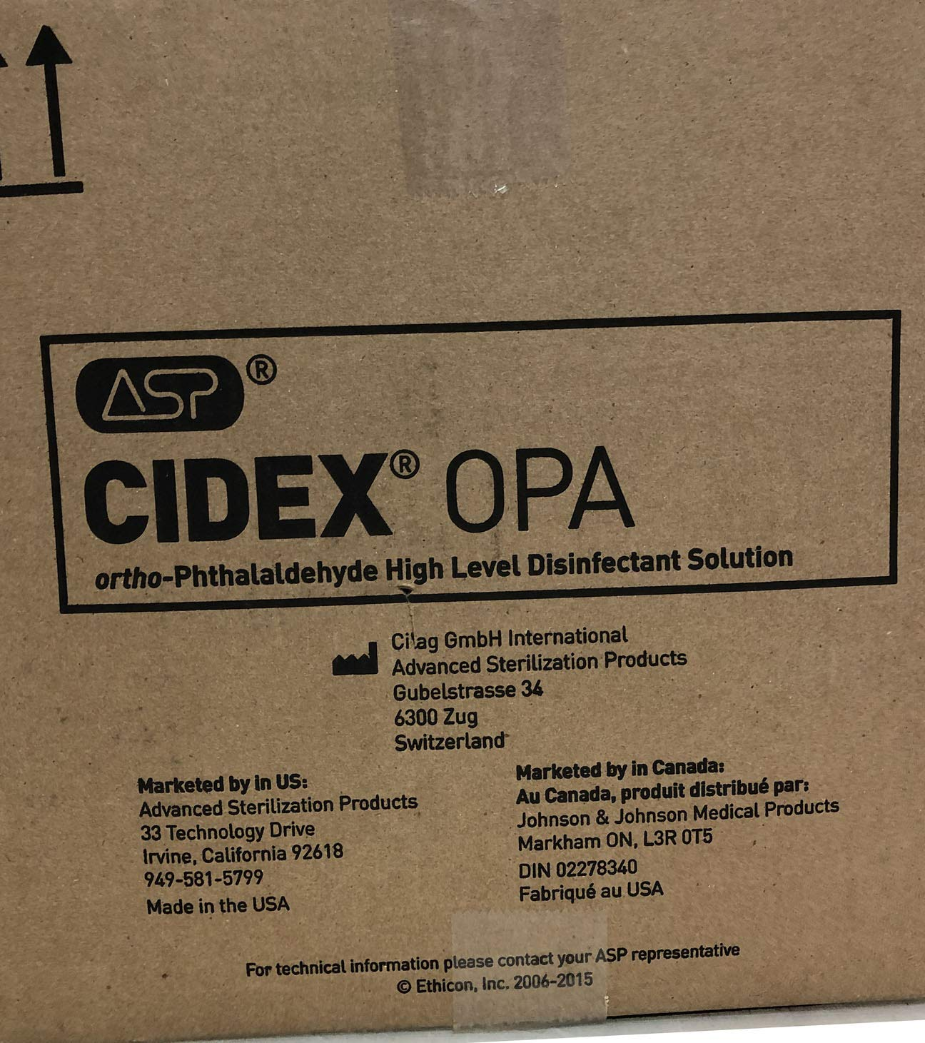 Amazon.com: J&J JJ-20390-L Cidex OPA Solution, 1 gal, Shape: Industrial & Scientific