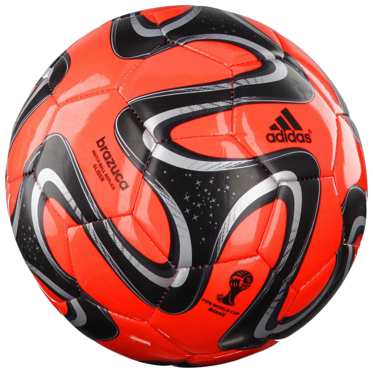 adidas Brazuca Glider - Balón de fútbol, Color - Red - Black ...