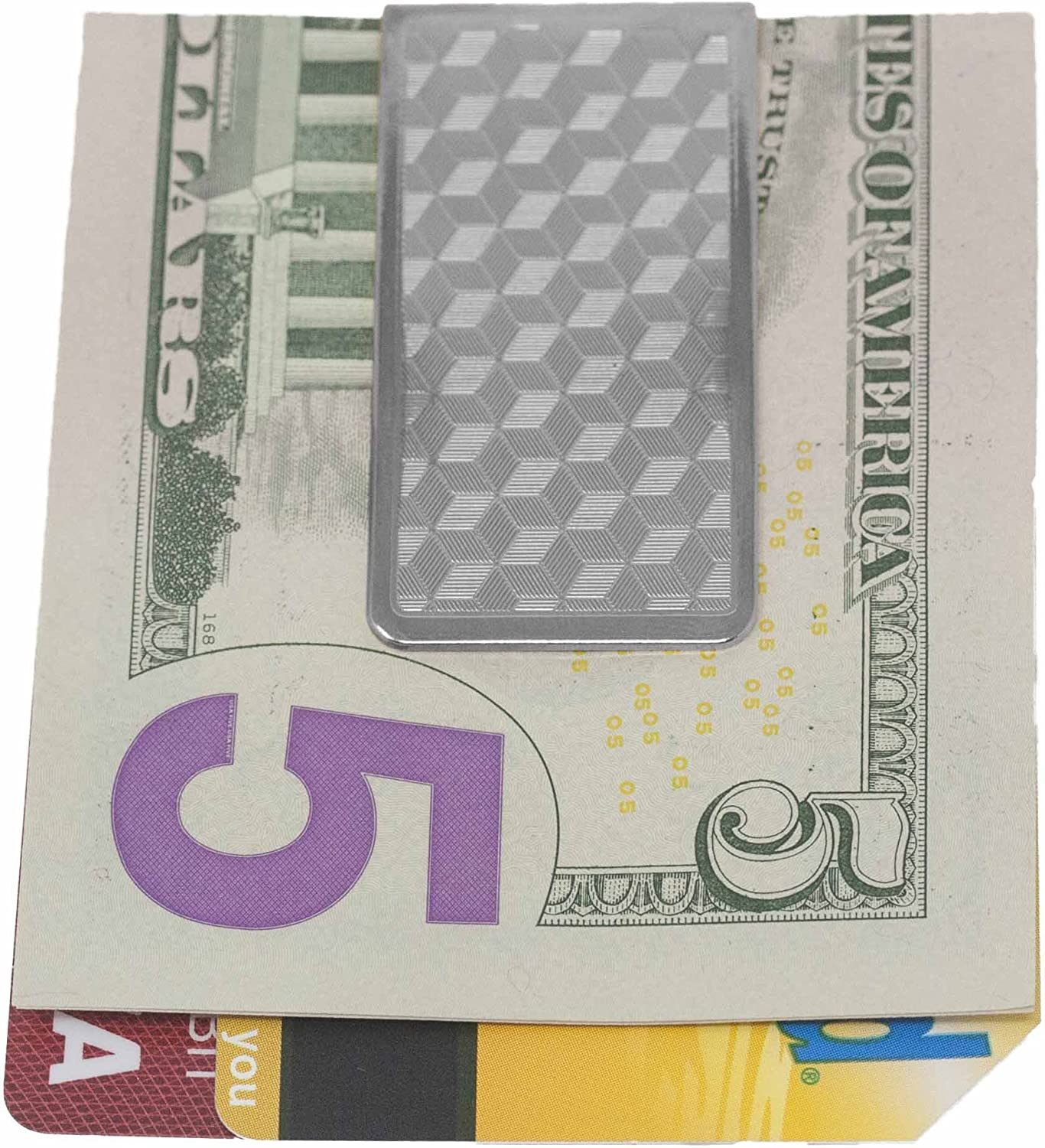 3D Silverbox Print Stainless Steel Boxed Money Clip