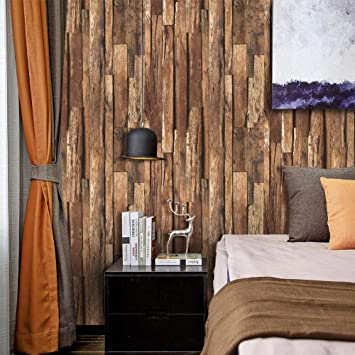 9101 Distressed Holz Plank Tapete Rollen, Kunst Faux Holz Tapeten ...