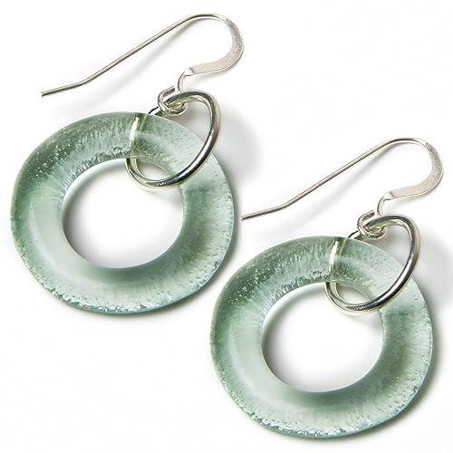 720f1c5052ab12 Amazon.com: Smartglass Jewelry Coca-Cola Recycled Bottle Glass Earrings:  Handmade