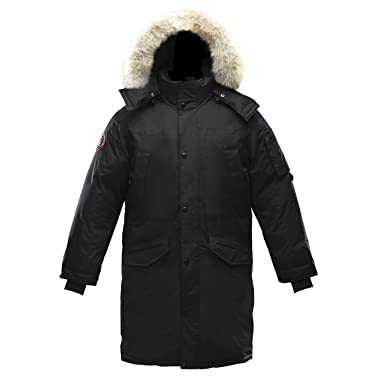 Triple F.A.T. Goose Eberly Mens Goose Down Jacket Parka with Real ...