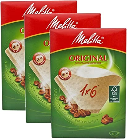 Genuine Original Melitta 1 x 6 Coffee Machine Brown Paper Filters by Melitta: Amazon.es: Alimentación y bebidas