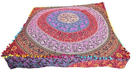 Cuadrado Mandala suelo almohada India Cojín suelo funda de ...