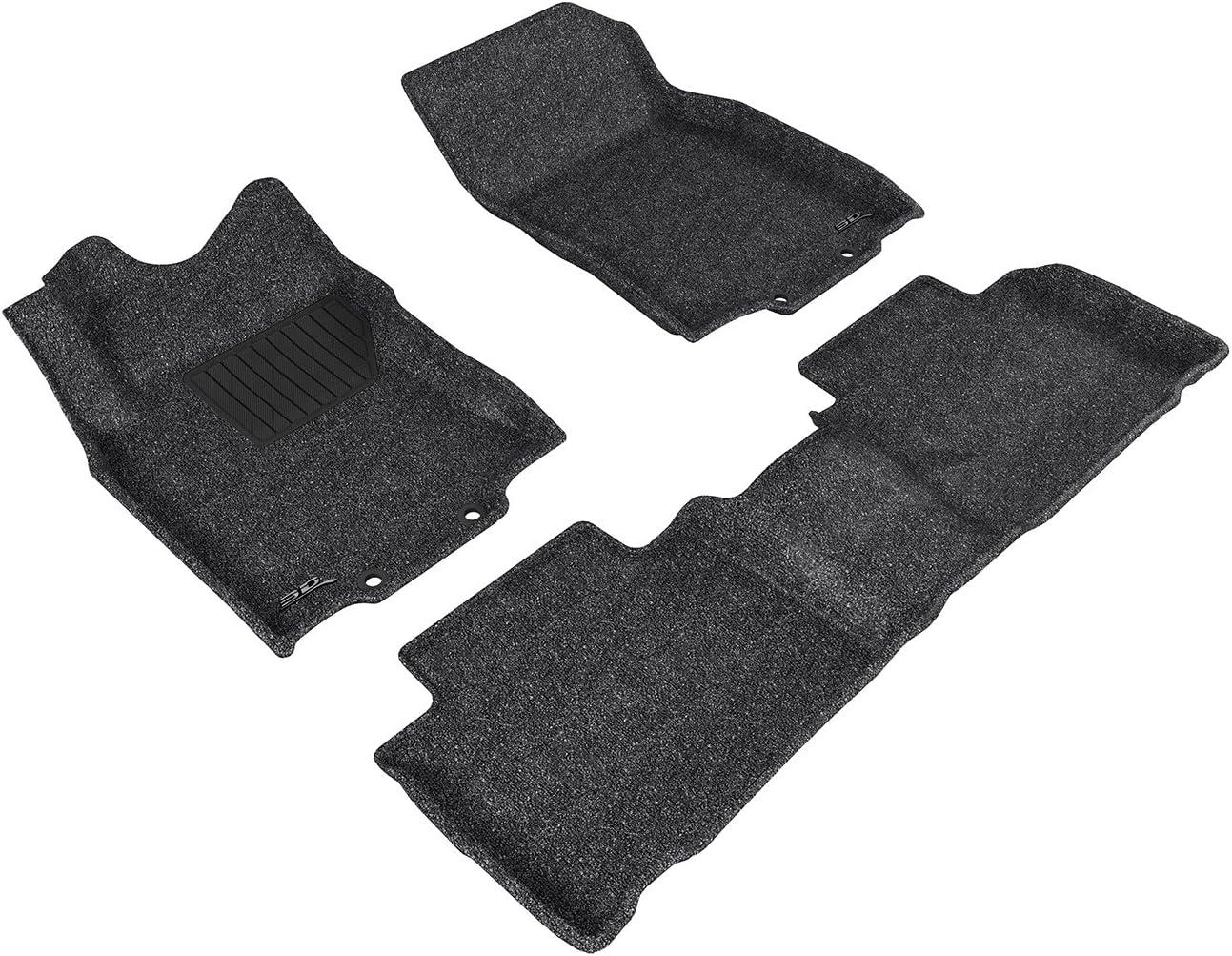 Classic Carpet Black 3D MAXpider L1NS06802209 Complete Set Custom Fit Floor Mat for Select Nissan Rogue Models