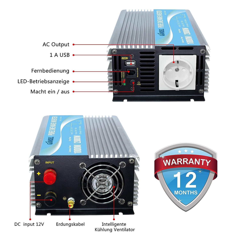 Auto- & Fahrzeugelektronik 10W Reiner Sinus Wechselrichter 10V